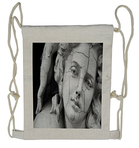 Lunarable Sculptures Drawstring Backpack, Fractured Woman Face, Sackpack (Fractured Faces)