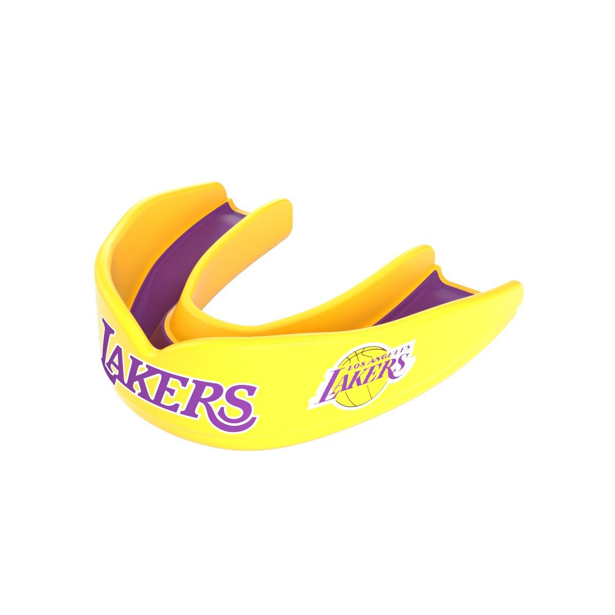 Shock Doctor 8300 NBA Los Angeles Lakers Basketball Mouth Guard, Gold/Purple, Adult