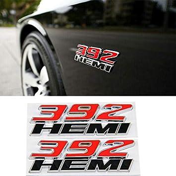 Bolt On 3D Metal Black Red SRT8 HEMI Front Emblem Badge w// Bracket For All Grill