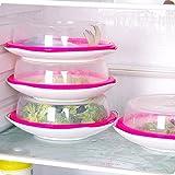 YJYdada Microwave Food Cover Plate Vented Splatter Protector Clear Kitchen Lid Safe Vent