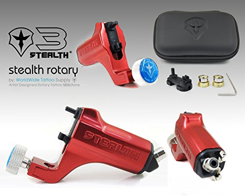 STEALTH GENERATION 3.0 Liner & Shader Tattoo Machine (RED) (Stealth Machine Tattoo)