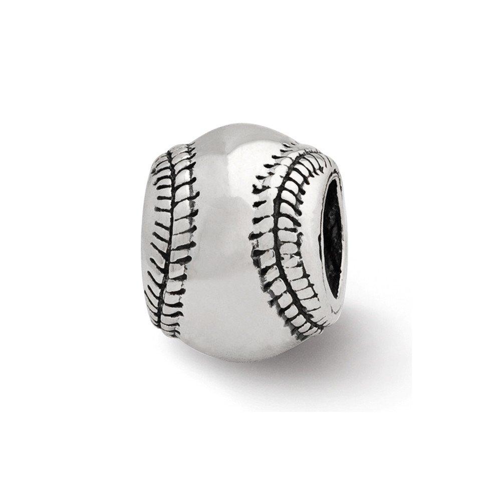 Sterling Silver Reflections Baseball Bead