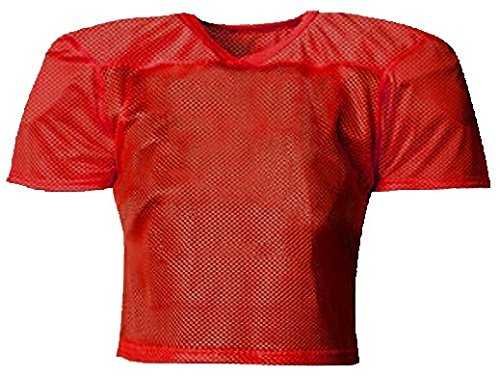 Youth Porthole Mesh (ProMark Football Lacrosse YOUTH Waist Length Poly Mesh Practice Jersey RED S-XL)