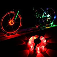 Rechargeable Bike Wheel Hub Lights,Baynne Waterproof 3 Modes LED Cycling Lights,RGB Colorful Bicycle Spoke Lights for Safety Warning and Decoration