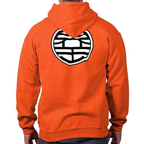Gokus Kanji Uniform Symbol Dragon Ball Z Super Saiyan Hoodie Sweatshirt -