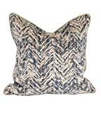 Howard Elliot 2-575F 20 x 20 in. Davida Kay Savile Indigo Pillows - Down Insert