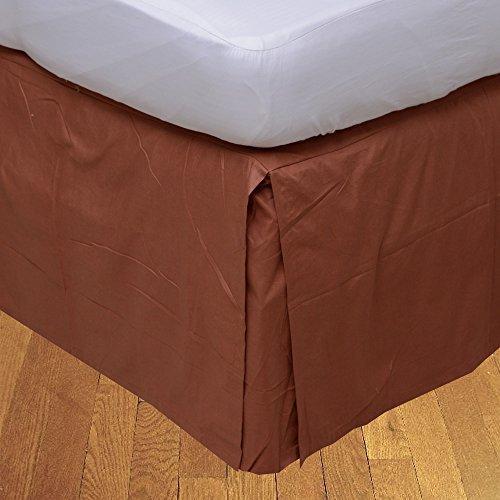 LaxLinens 350 fils cm², 100%  coton, finition élégante 1 jupe plissée de chute Longueur    21 lit simple Rouge brique  Euro solide