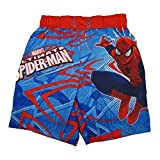Marvels Little Boys Red Blue Ultimate Spiderman Adjustable Swim Shorts 2T