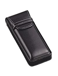 M-world Men's Gentleman's Leather-Tone Glasses Case,Stylish, Smart
