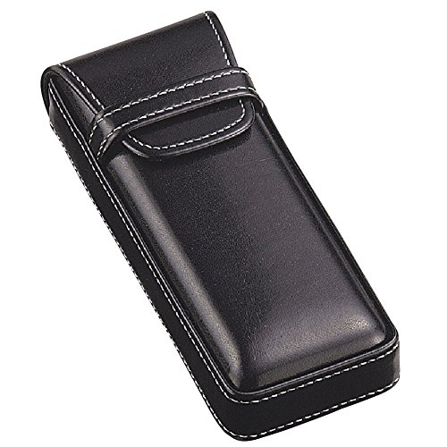 M-world Men's Gentleman's Leather-Tone Glasses Case,Stylish, Smart One Size - Eyeglass Mens Leather Case