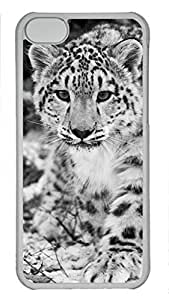 Shell Case for iphone 5C with Snow Leopard DIY Fashion PC Transparent Hard Skin Case for iphone 5C