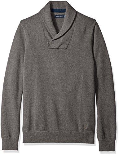Nautica Mens Button Shawl Collar Sweater