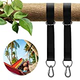 KUYOU Tree Swing Strap Hanging Kit,Outdoor Swing Hangers &Hammock Straps Set Holds 2200lbs With Safety Lock Carabiners Carrying Bag For Hammocks Tires Disc Swings (Pack of Two)