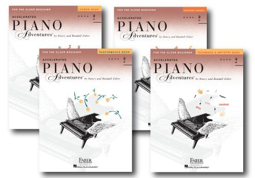 Accelerated Piano Adventures Level 2 - Four Book Learning Library - Includes Lesson, Theory, Performance, and Technique & Artistry Books