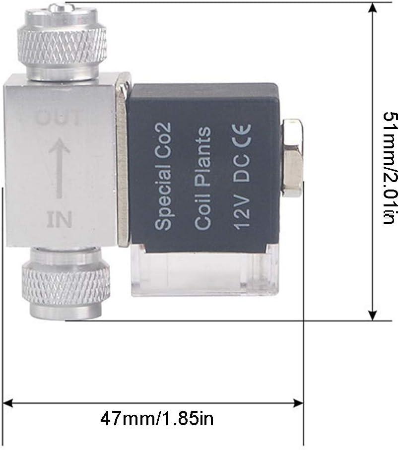 zhiwenCZW CO2 Solenoid Valve DC 12V Aquarium CO2 Regulator System Low Temperature Solenoid Valve for Tank