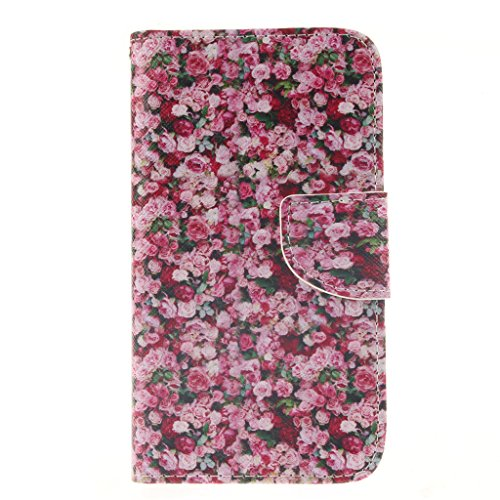 Galaxy S3 Case,S3 Case,Love Sound [Flowers] [Wallet Function] [Stand Feature] Magnetic Snap Case Wallet Premium Wallet Case Flip Case Cover for Samsung Galaxy S3 i9300 Case