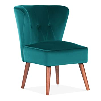 Admirable Cult Living Penelope Accent Chair Velvet Upholstered Teal Pdpeps Interior Chair Design Pdpepsorg
