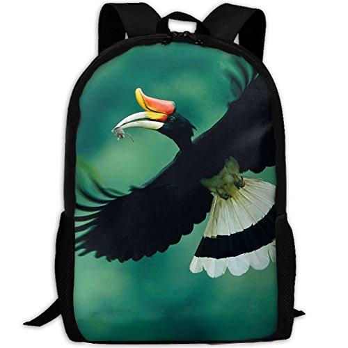 Malaysia Rhinoceros Hornbill Interest Print Custom Unique Casual Backpack School Bag Travel Daypack - Sunglasses Offer Malaysia