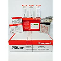 Honeywell Vista 20P, 6160RF, 3-5816WMWH, 5800PIR-RES, Battery, Siren, Jack and Cord Kit Package