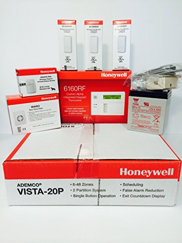 Vista Wall Frame - Honeywell Vista 20P, 6160RF, 3-5816WMWH, 5800PIR-RES, Battery, Siren, Jack and Cord Kit Package