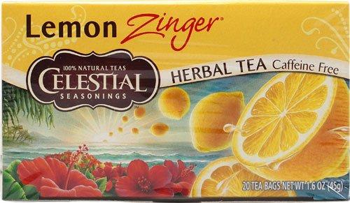 Celestial Seasonings Herbal Tea Caffeine Free Lemon Zinger -- 20 Tea Bags