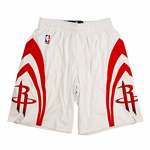 adidas Houston Rockets NBA White Authentic On-Court Climacool Team Game Shorts For Men (2XLT)