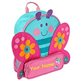 Stephen Joseph Personalized Little Girls' Sidekick NEW STYLE Butterfly Backpack With Name