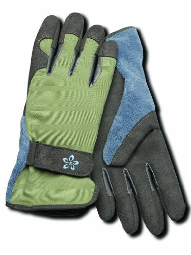 Fingertip Spandex Gloves - Magid TE166T-L Terra Collection Deluxe Spandex Back Gardening Gloves - Womens Large
