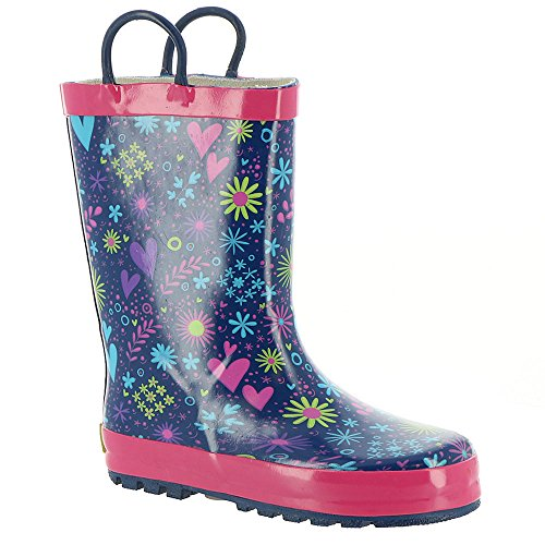 Western Chief Girls' Twinkle Stars Rain Boot-K, Purple, 1 M US Little Kid