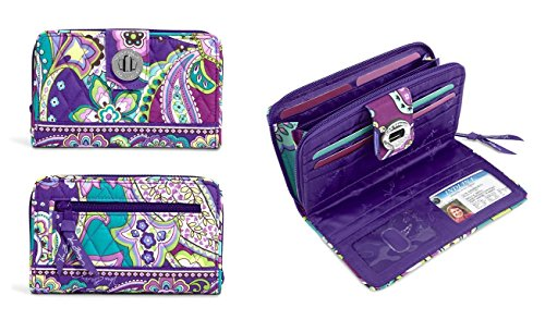 Vera Bradley Women's Turn Lock Wallet Heather Clutch