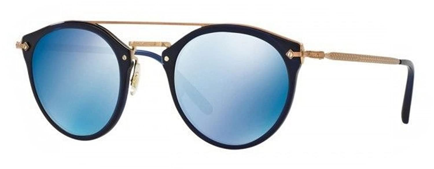 416611a4b4 Amazon.com  New Oliver Peoples OV 5349 S 156696 Remick Denim Blue Mirrored  Sunglasses  Clothing