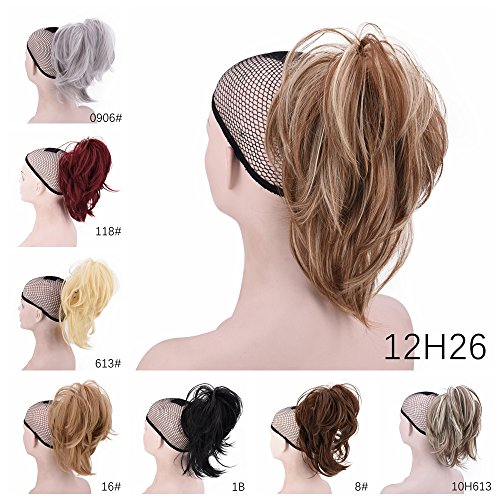 Xiangsen Adjustable Messy Ponytail Hair Extensions Short Curly Claw Ponytail Clip on Hair Ponytail Clip In Hair Extensions (4)
