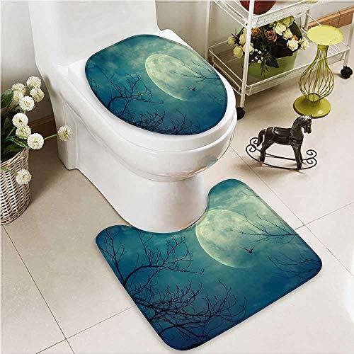 VROSELV U-shaped Toilet Mat-Soft Hawaiian Gifts Aloha Hawaii s Tiki Tropical 2 Piece Toilet Toilet mat by VROSELV