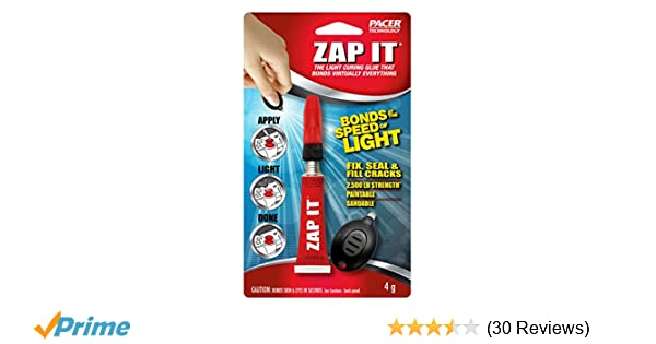 ZAP-IT The UV Light Curing Glue that Bonds Virtually Everything - - Amazon.com
