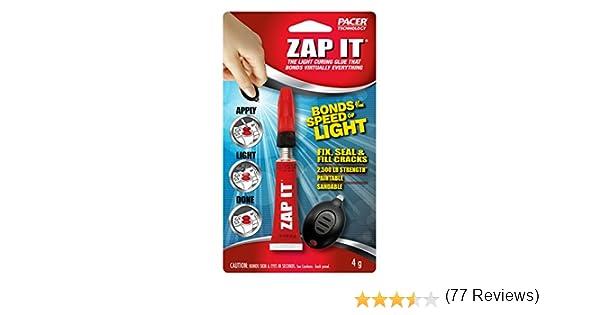 Zap-It la luz UV curado pegamento que bonos prácticamente todo: Amazon.es: Bricolaje y herramientas