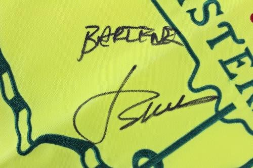 """Jordan Spieth""""Best Wishes"""" Signed Masters Pin Flag #Z70694 JSA Certified Autographed Pin Flags"""