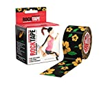 """RockTape Kinesiology Tape for Athletes, Water Resistant, Reduce Pain & Injury Recovery, 2"""" x 16.4 Feet, Uncut, Flower Pattern"""