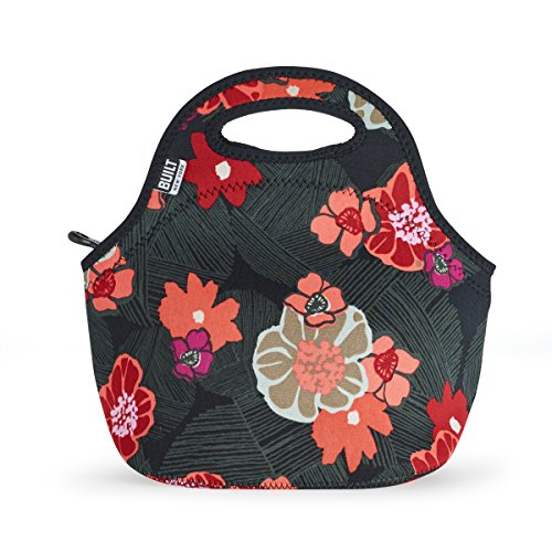 BUILT 5188249 Gourmet Getaway Soft Neoprene Lunch Tote Bag - Lightweight, Insulated and Reusable 1 EA Poppy Floral
