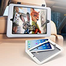 "iPad Air/Air2 / iPad new 9.7"" (2017) / iPad pro 9.7"" Car Back Seat Headrest Mount Holder with Magnetic Back - Durable PU Leather Case Keeps iPad in Car or Wherever You are Cooking, Repairing, Relaxing"