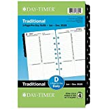"""Day-Timer 2020 Daily Planner Refill, One Page Per Day, 5-1/2"""" x 8-1/2', Desk Size 4, Loose Leaf, Classic (12010-1901)"""