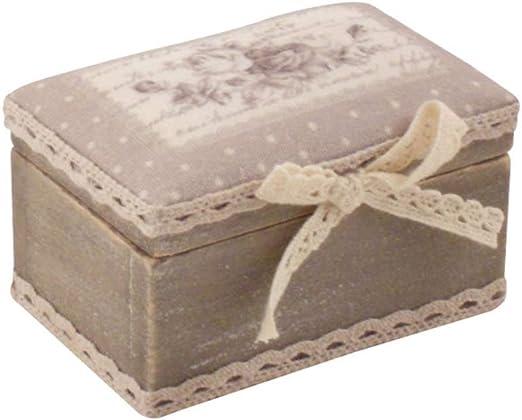 Disraeli Caja Rectangular de Madera con Dibujo Rose 10,5 x 6,5 x ...