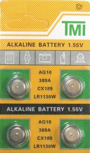 4 Pack AG10 389 189 LR54 LR1130 Alklaine Button Cell Battery