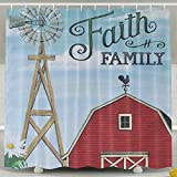 Personalized Shower Curtain-Faith Family Waterproof Polyester Bathroom Curtain,Decorative Shower Curtain 60 X 72 Inch