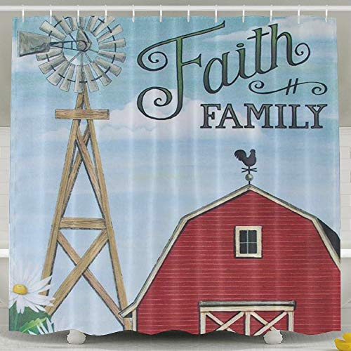 Personalized Shower Curtain-Faith Family Waterproof Polyester Bathroom Curtain,Decorative Shower Curtain 60 X 72 Inch by FVCXKM