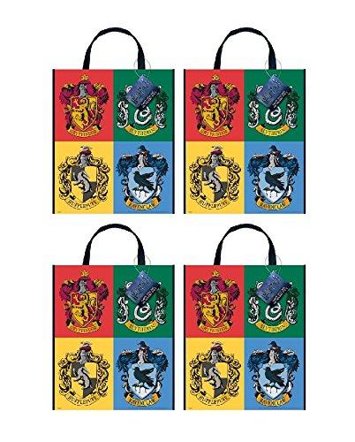 Large Plastic Harry Potter Tote Party Favor Bag, 13 x 11 (4 (Honey Badger Adult Costumes)