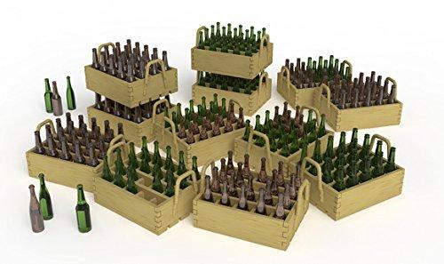 /Beer Bottles y Wooden Crates /Accesorios de construcci/ón/ Unbekannt Mini Tipo 35574/