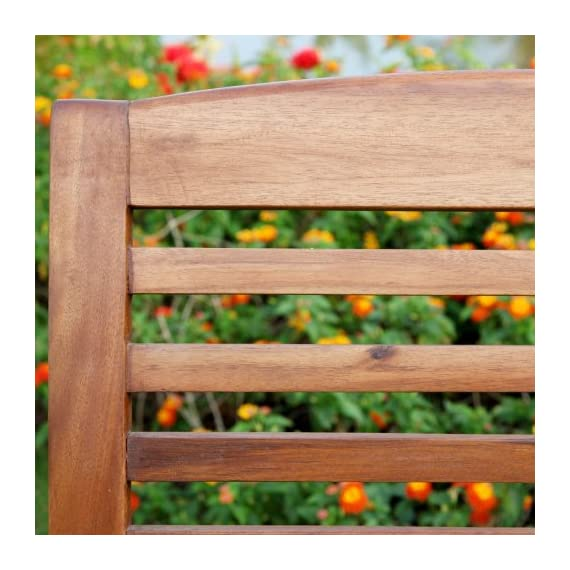 """Walker Edison Furniture Company Solid Acacia Wood Patio Chairs (Set of 2) - Brown - Dimensions: 37"""" H x 24"""" L x 20"""" W Made with solid acacia wood , perfect for outdoor use Includes 2 chairs. Each chair supports up to 250 lbs. - patio-furniture, patio-chairs, patio - 51bItWvcyzL. SS570  -"""