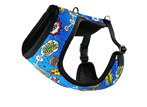 RC Pet Products Cirque Soft Walking Dog Harness, XX-Small, Comic Sounds by RC Pet Products