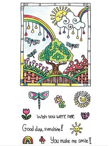 Hampton Arts Color Me Clear Stamps ~ Sunshine