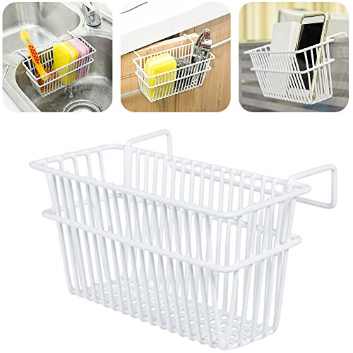 Iron Hanging Drainer Drying Sink Rack Basket Holder Kitchen Utensils Storage by Agordo